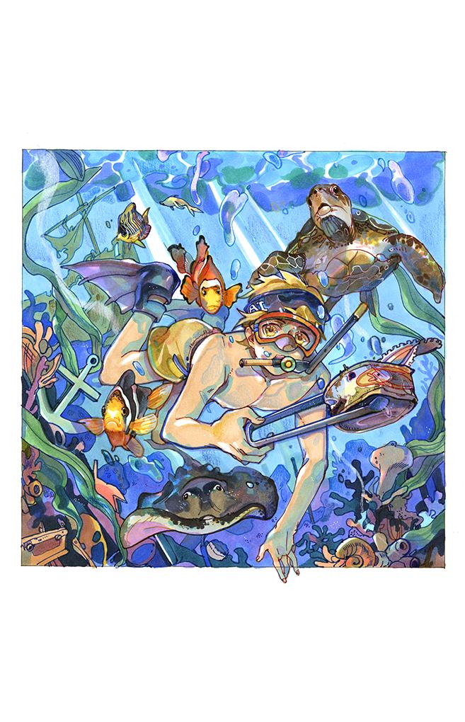 彩色装饰画(01)