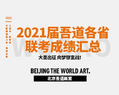 2021届北京吾道画室各省联考成绩汇总